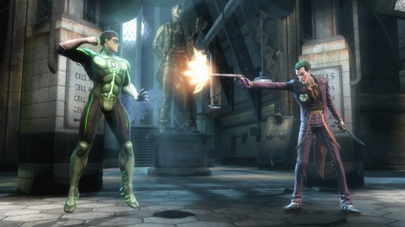 Injustice Gods Among Us Joker Green Lantern 570x320 Injustice Gods Among Us Doomsday Trailer