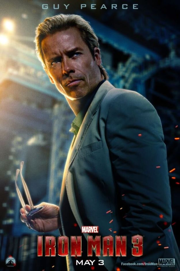 Iron Man 3 Guy Pearce Aldrich Killian New Iron Man 3 Poster Features Guy Pearce As Aldrich Killian