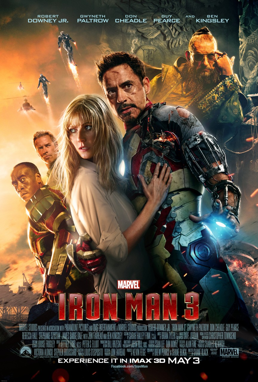 Iron Man 3 Imax Movie Poster Official IMAX Poster for Iron Man 3 Arrives