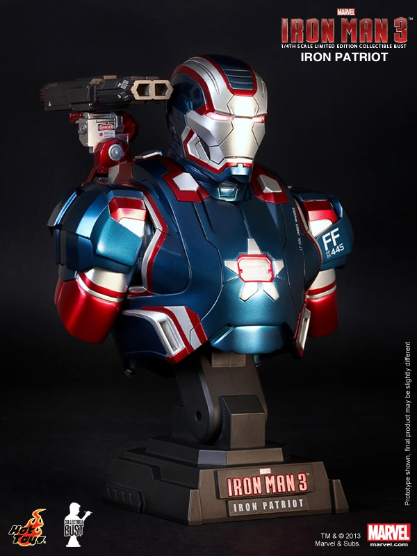 Iron Man 3 Iron Patriot Armor Hot Toys First Look at Iron Man 3 Action Figures from Hot Toys