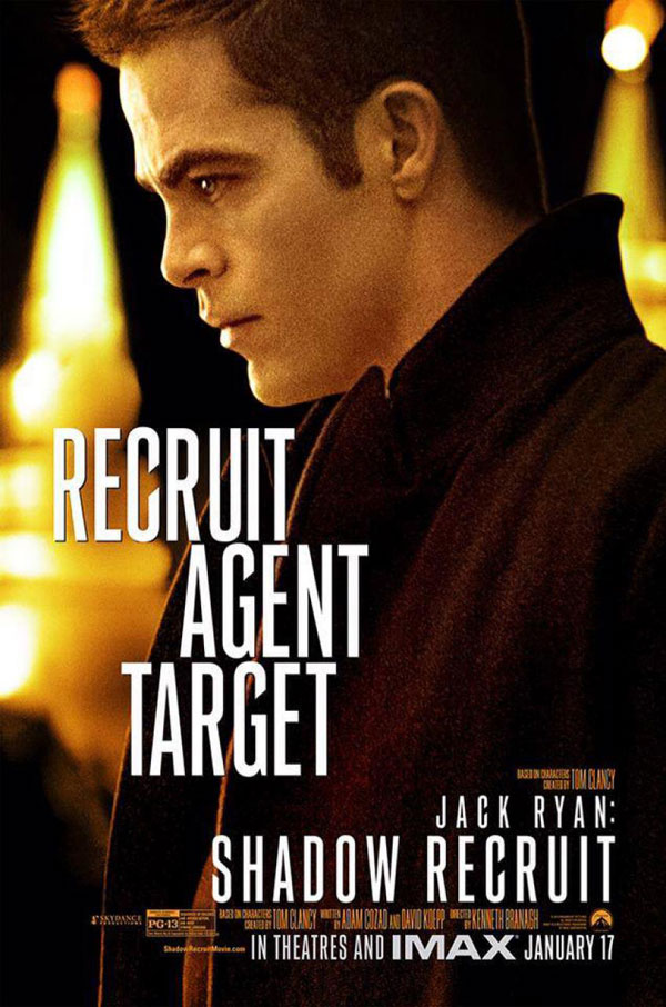 Jack Ryan Poster Jack Ryan: Shadow Recruit Movie Review