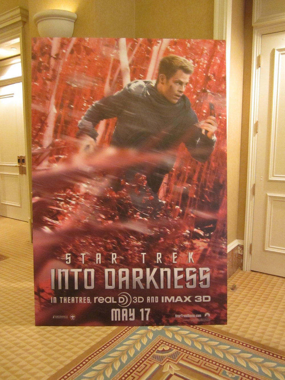 James Kirk Star Trek Into Darkness Poster CinemaCon Shockya CinemaCon 2013: Chris Pine Star Trek Into Darkness Character Poster