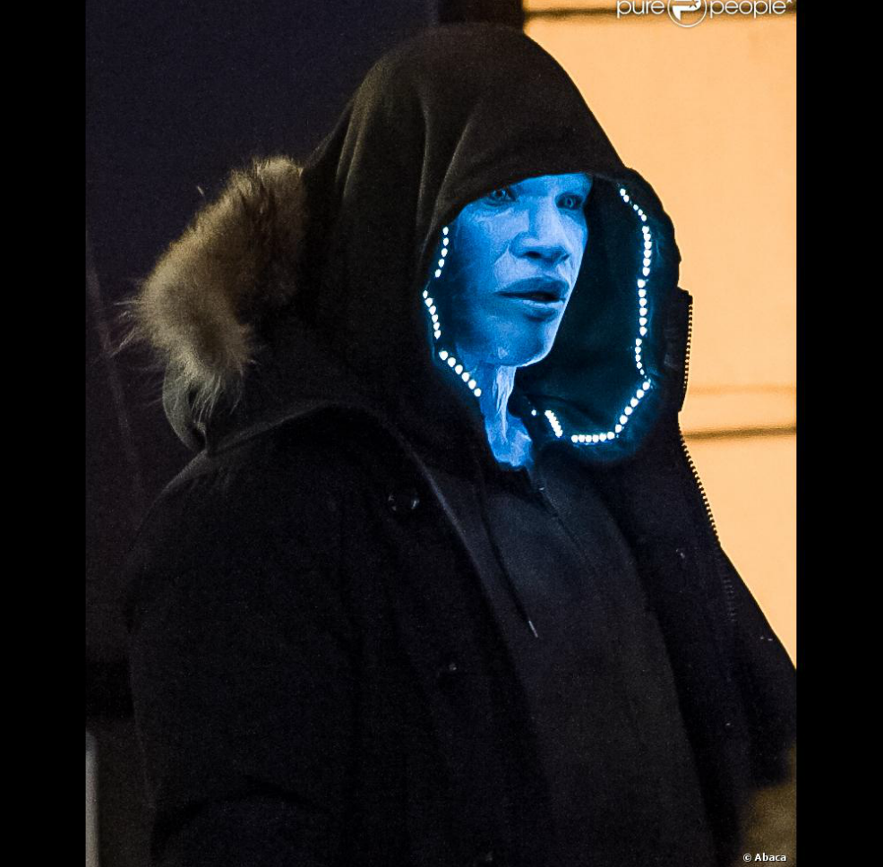 Jamie Foxx as Electro Glowing Lights More Awesome Photos of Jamie Foxx in The Amazing Spider Man 2