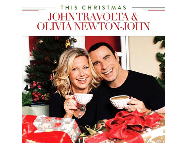 John Travolta Explains Reasoning Behind Christmas Album Cover with Olivia Newton John John Travolta Explains Reasoning Behind Christmas Album Cover with Olivia Newton John