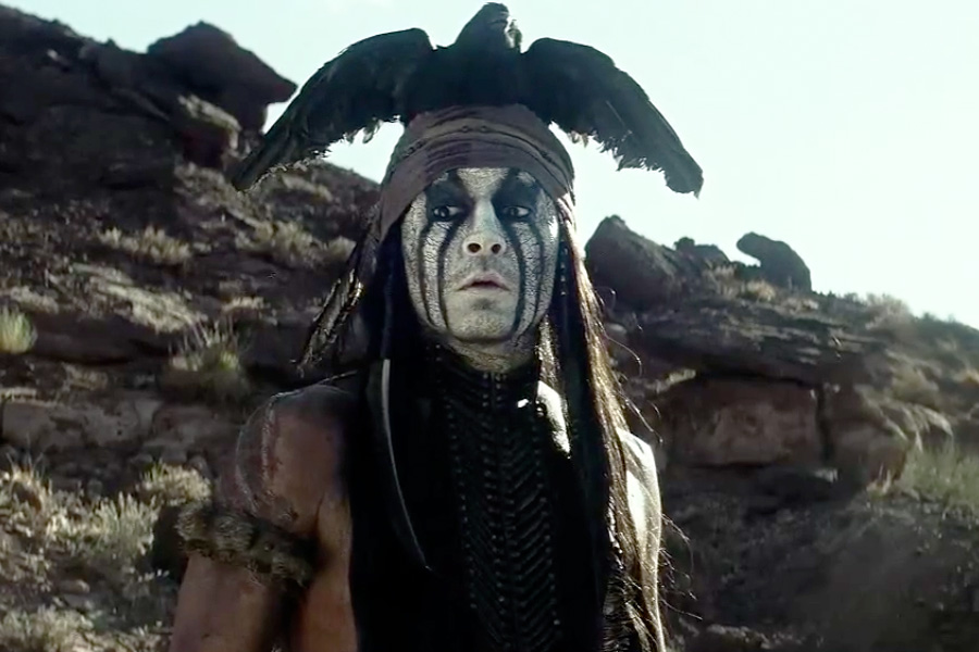 Johnny Depp in The Lone Ranger
