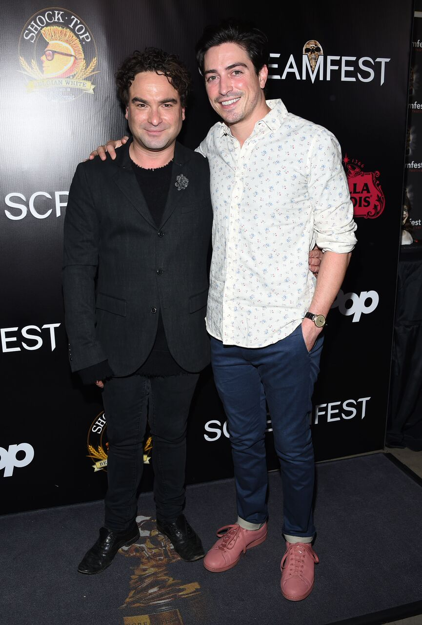 Johnny Galecki and Ben Feldman The Master Cleanse Screamfest Premiere