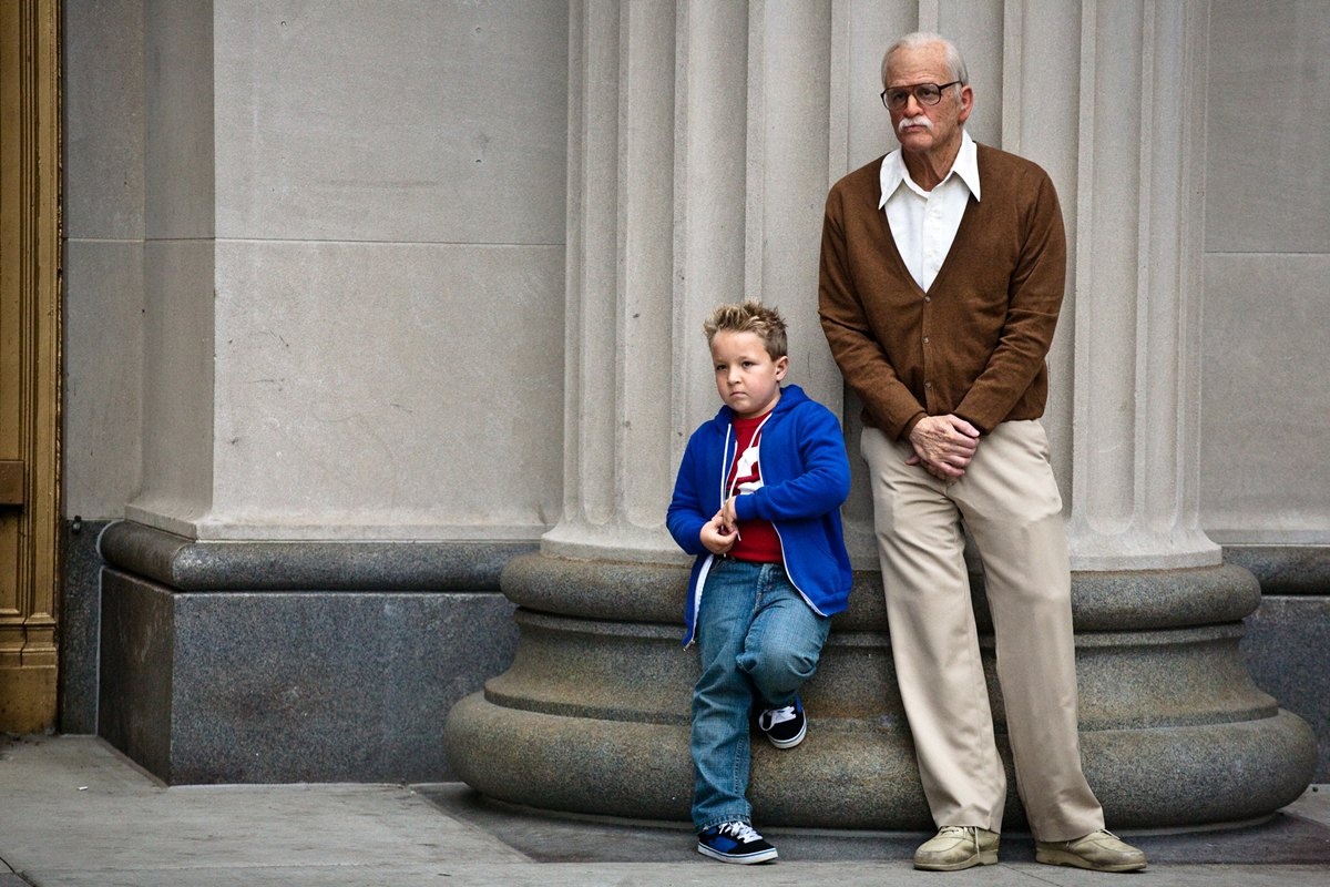Johnny Knoxville and Jackson Nicoll in Jackass Presents Bad Grandpa Paramount Pictures Releases Jackass Presents: Bad Grandpa Poster