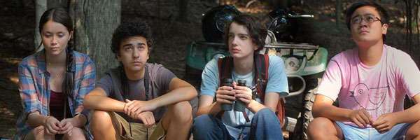 Katie Chang, Alex Wolff, Kodi Smit-McPhee, and Michael Chen in A Birder's Guide to Everything