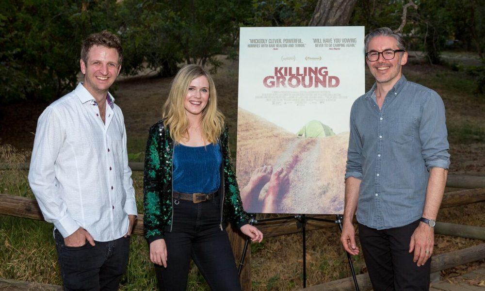 Killing Ground LA Premiere cast members Aaron Glenane, Harriet Dyer and filmmaker Damien Power