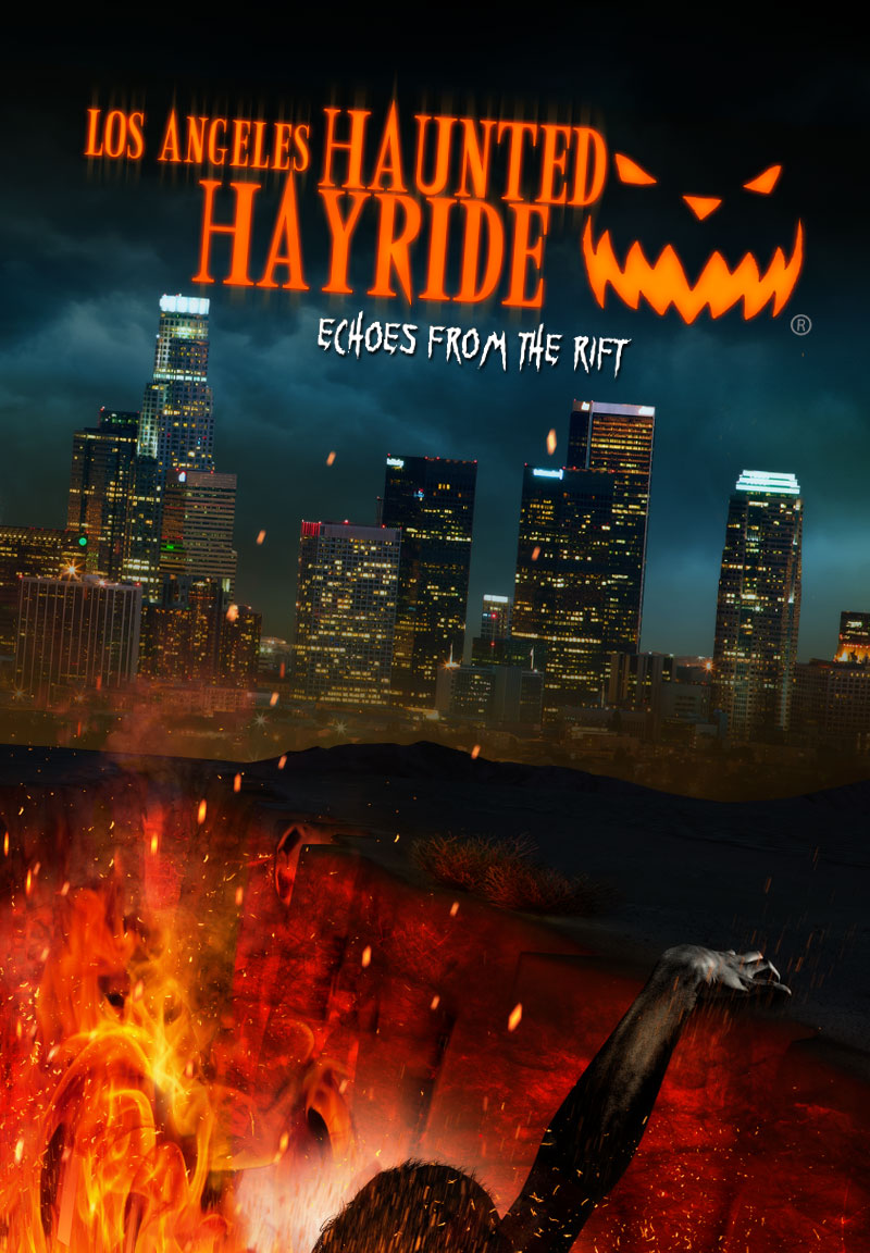 LA Haunted Hayride Official Poster Los Angeles Haunted Hayride Launches Echoes From The Rift