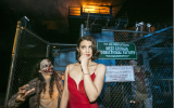 Lauren Cohan Stuns at the The Walking Dead Season 5 Premiere at Halloween Horror Nights