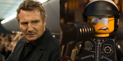Liam Neeson in Non-Stop and The Lego Movie