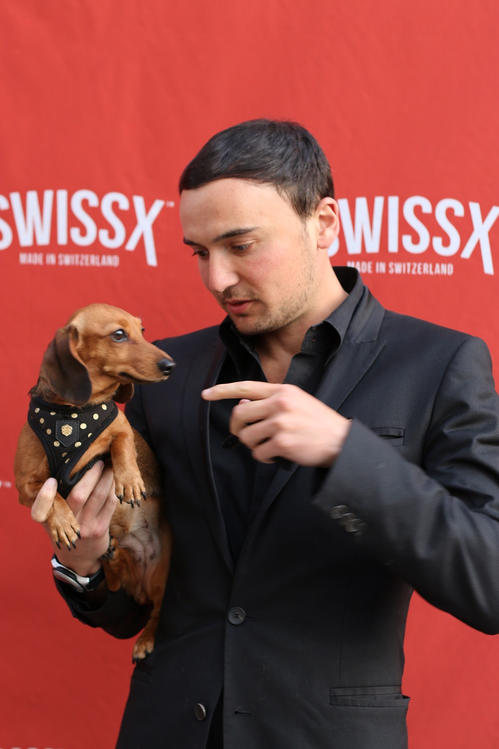 Lucy on the SwissX Red Carpet