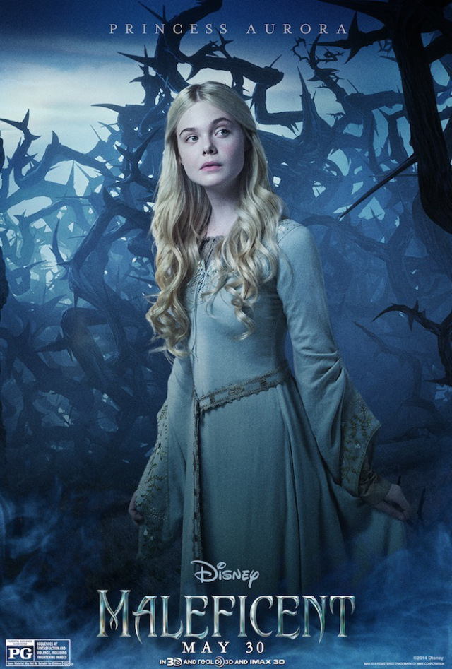 Maleficent Character Poster Elle Fanning Princess Aurora Angelina Jolie Gets Into an Awkward Situation In New Maleficent Clip