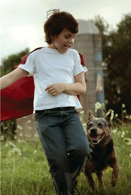 Man of Steel Clart Kent as Child With Cape