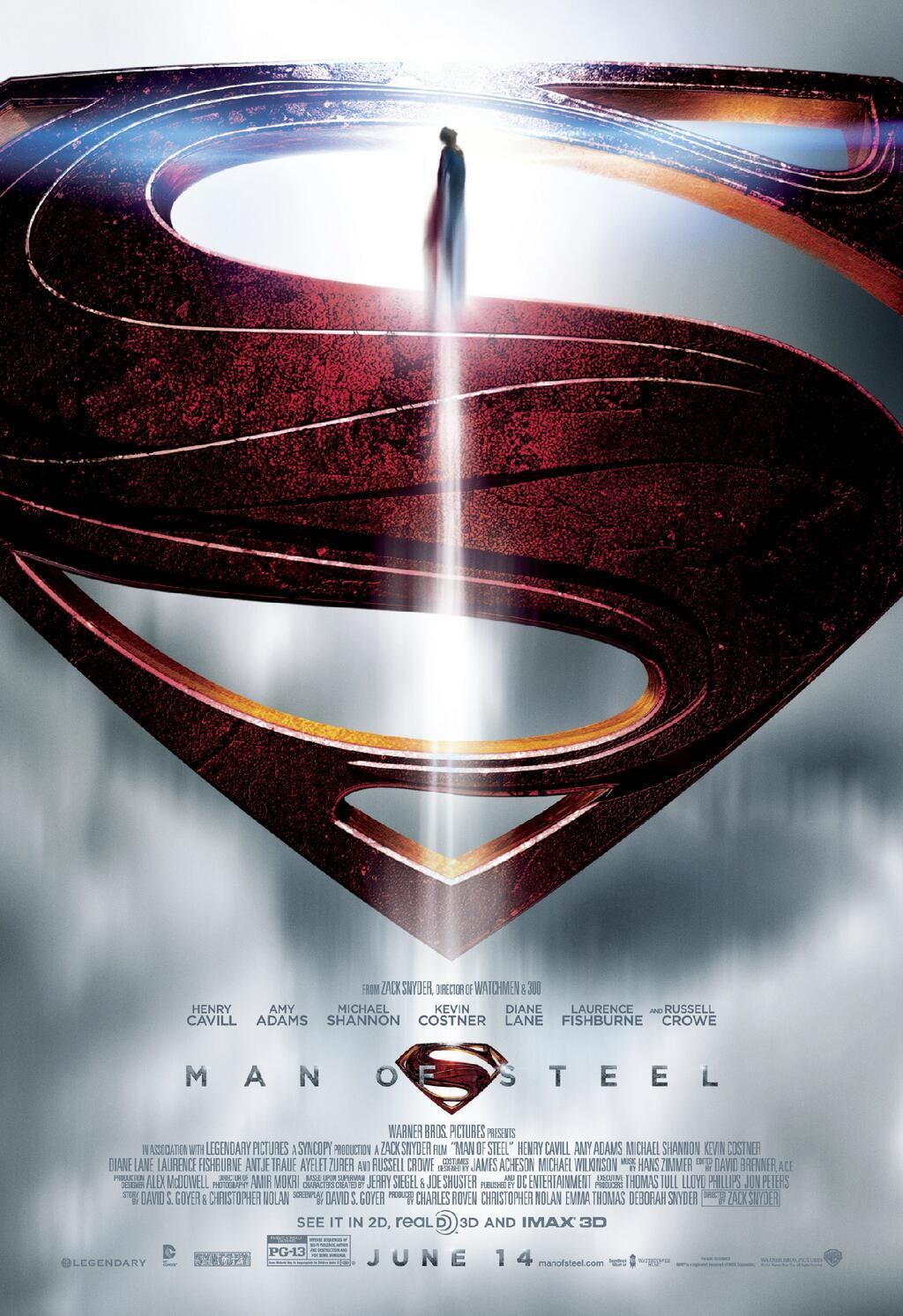 Man of Steel Epic Logo Poster Epic New Man of Steel Movie Poster Hits