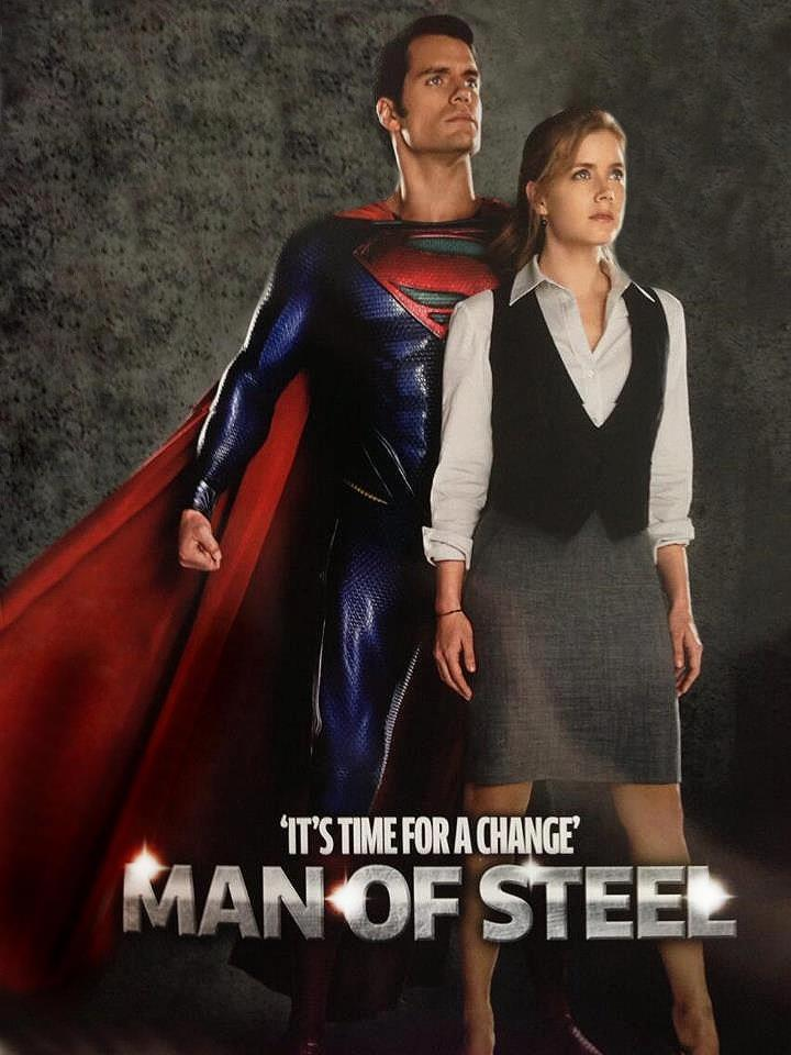 Man of Steel Henry Cavill and Amy Adams Superman: Man of Steel Magazine Cover and Photo Featuring Henry Cavill and Amy Adams