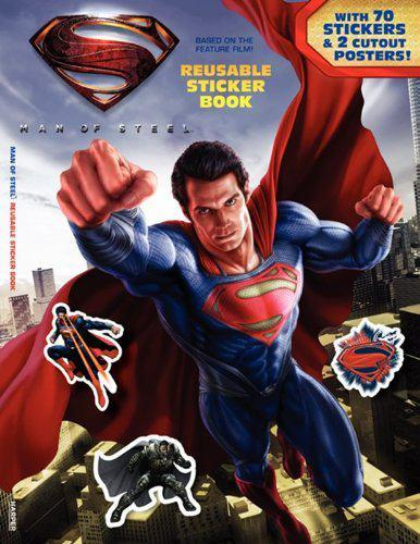 Man of Steel Sticker Book promo Spoiler Filled Superman: Man of Steel Artwork Hits The Web