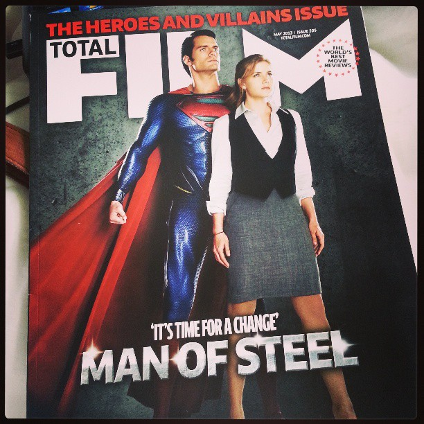 Man of Steel Total Film Cover Superman: Man of Steel Magazine Cover and Photo Featuring Henry Cavill and Amy Adams