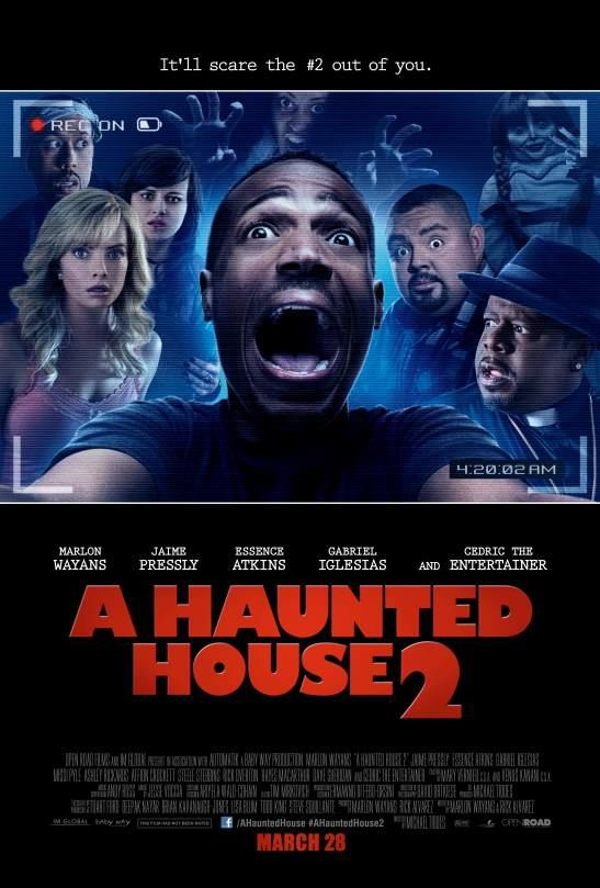 Marlon Wayans Sees a Ghost in New A Haunted House 2 Poster Marlon Wayans Sees a Ghost in New A Haunted House 2 Poster