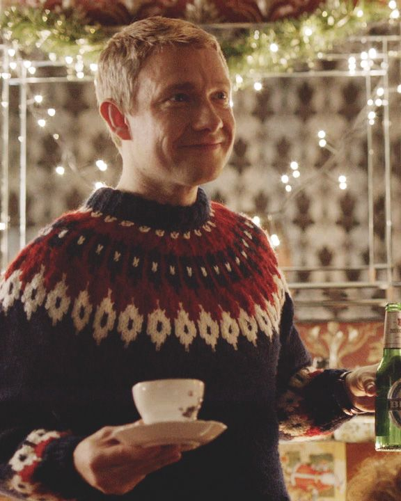 Martin Freeman Love Actually Sweater