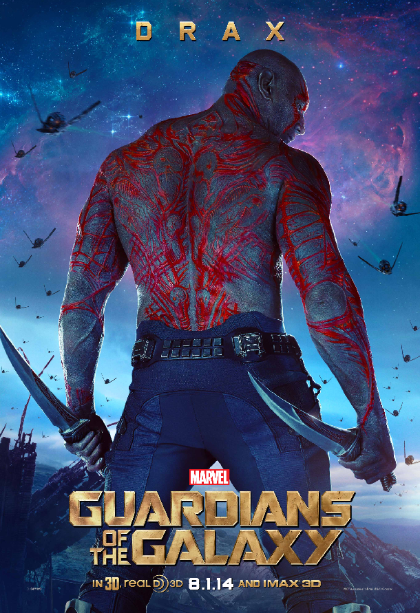Meet Drax of Marvels Guardians of the Galaxy In Poster Meet the Characters of Marvels Guardians of the Galaxy In Posters