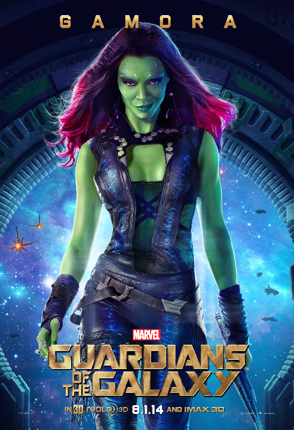 Meet Gamora of Marvels Guardians of the Galaxy In Poster Meet the Characters of Marvels Guardians of the Galaxy In Posters