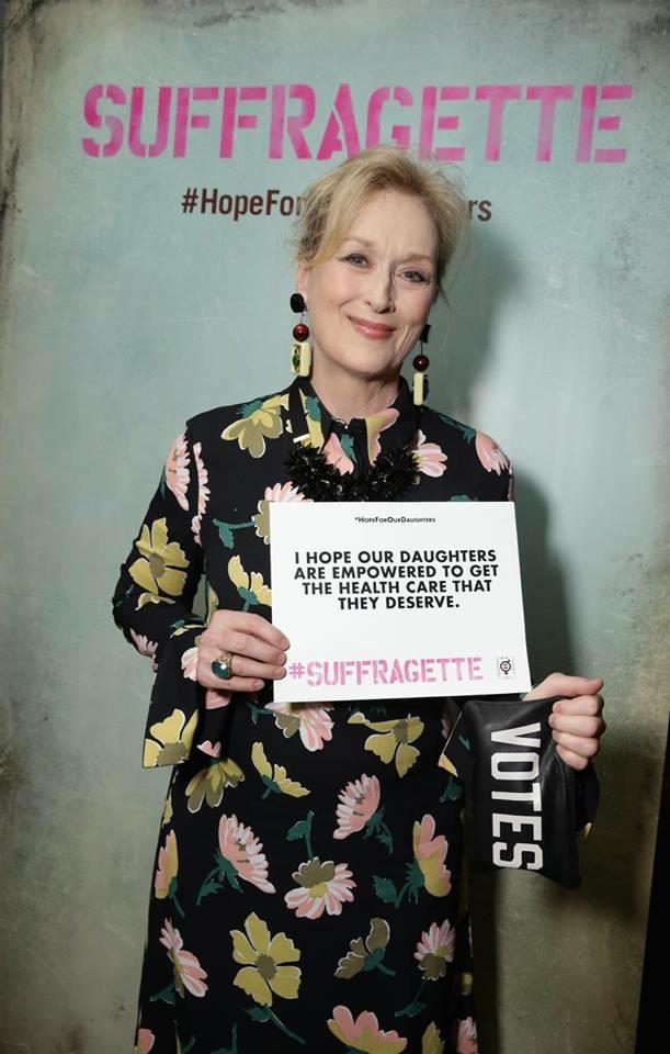 Meryl Streep Promotes Suffragette Gender Equality