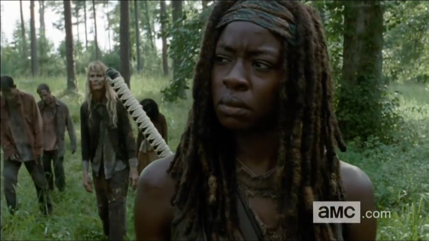Michonne The Walking Dead Michonne Stars in The Walking Deads Most Talked About Scene from the Mid Season Premiere