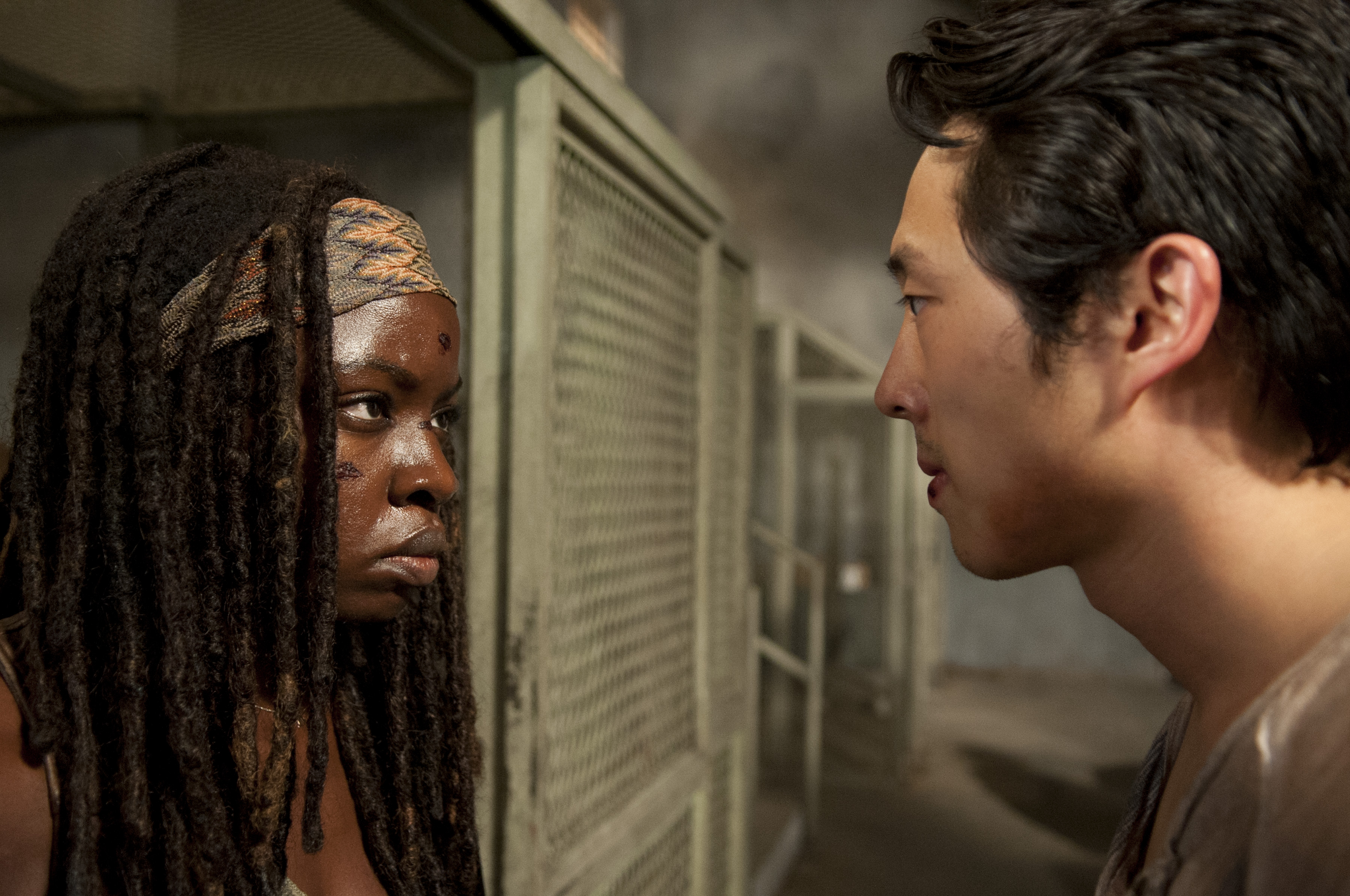 Michonne and Glenn in The Walking Dead Exclusive: Photos from The Walking Dead Season 3 Episode 10 Home