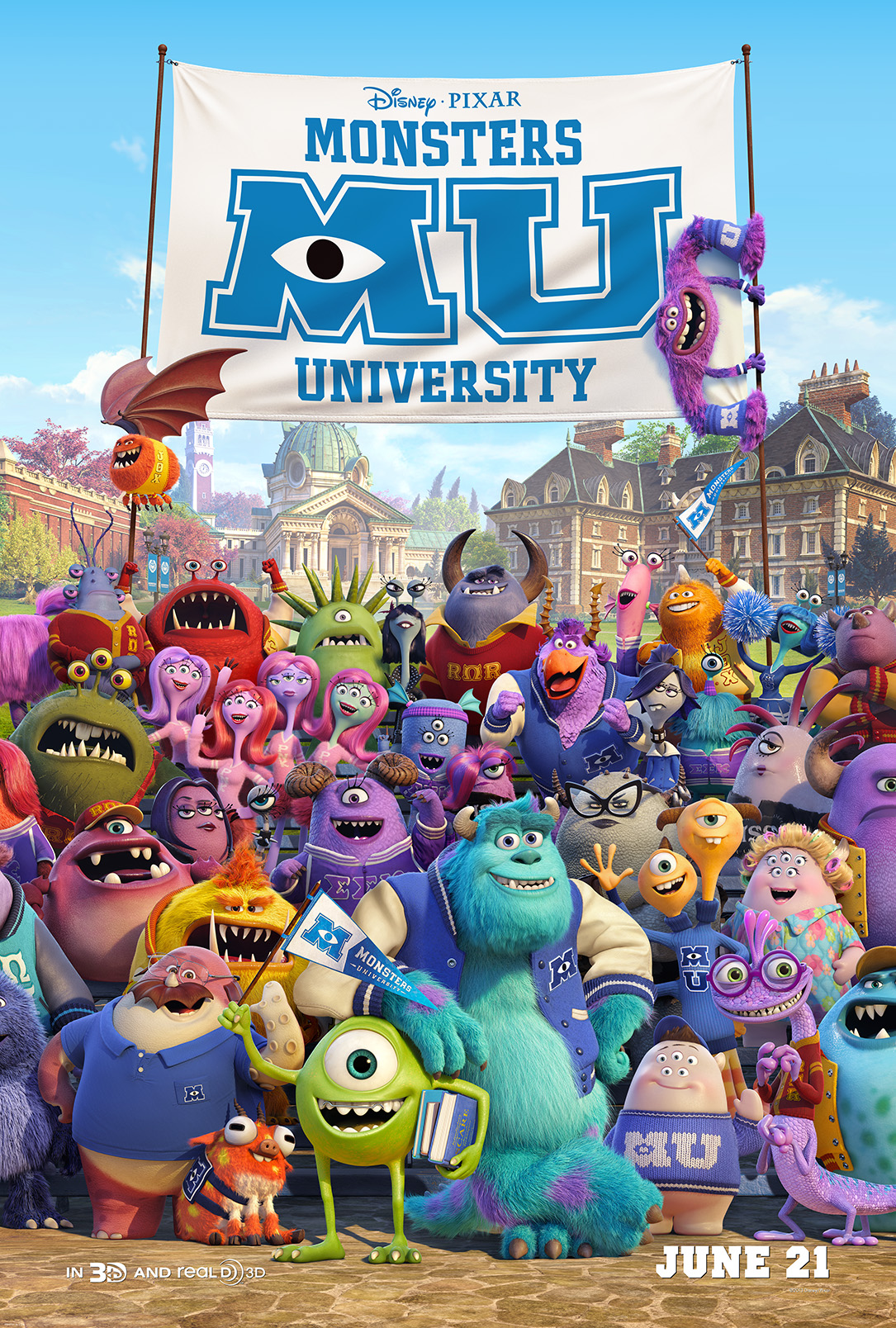 Monsters University Poster New Monsters University Trailer Premieres on Yahoo!