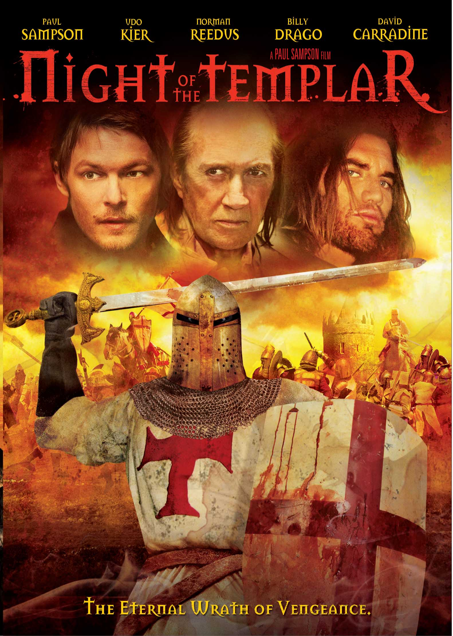 Night of the Templar DVD Cover Night Of The Templar Fighting Evil on DVD