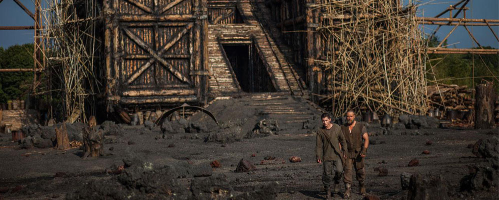 Logan Lerman and Russell Crowe in Noah