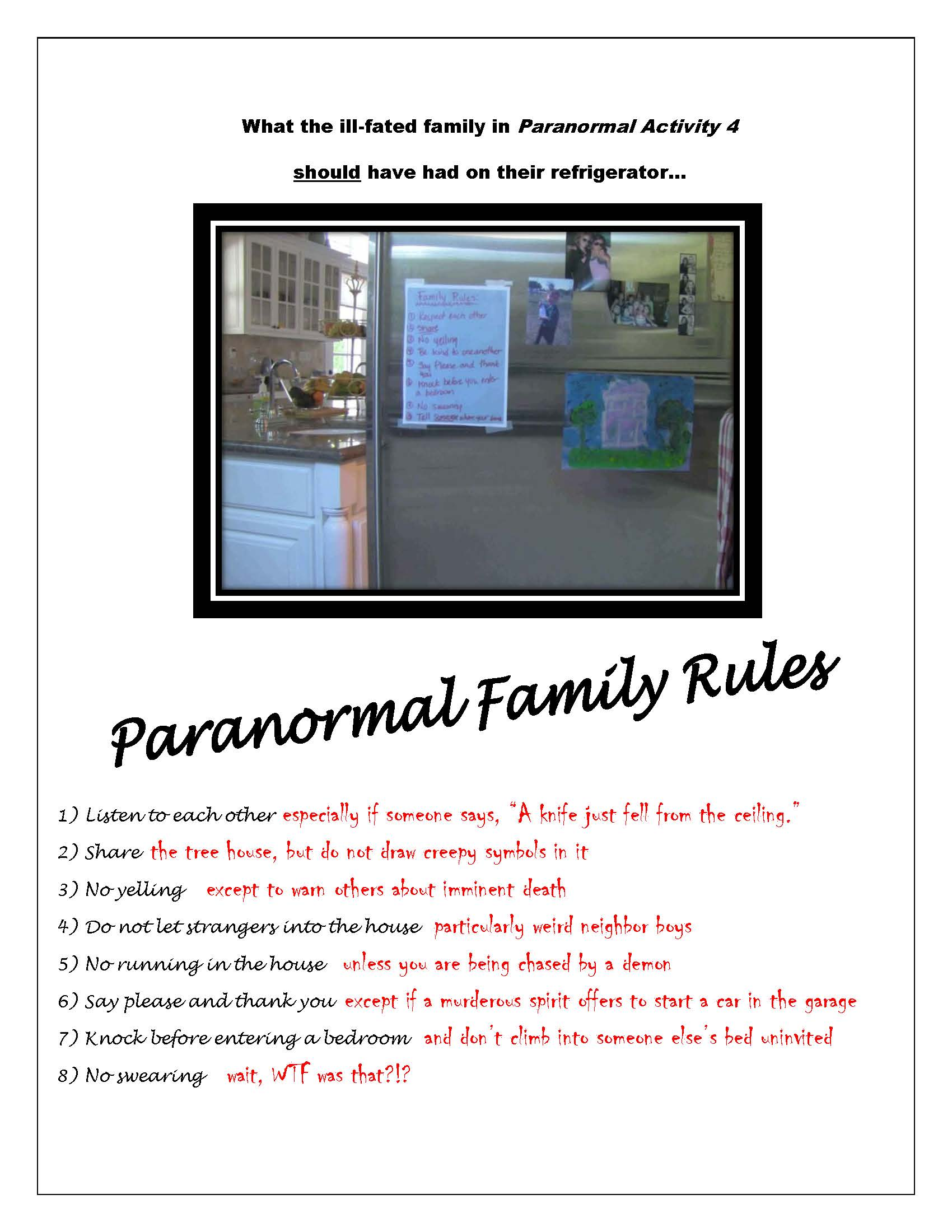 PA Family Rules Paranormal Activity 4 Gives Supernatural House Rules