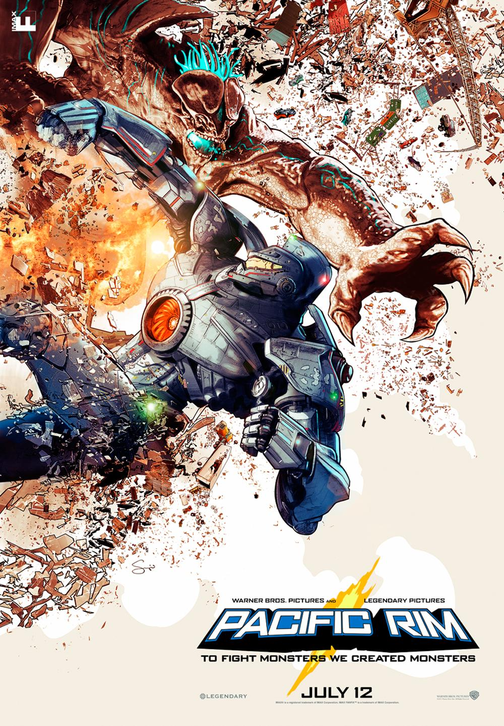 Pacific Rim IMAX Movie Poster Epic New IMAX Poster for Pacific Rim Arrives