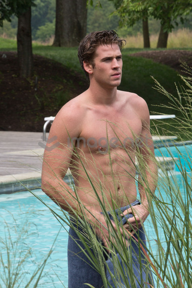 Paranoia's Liam Hemsworth in Pool