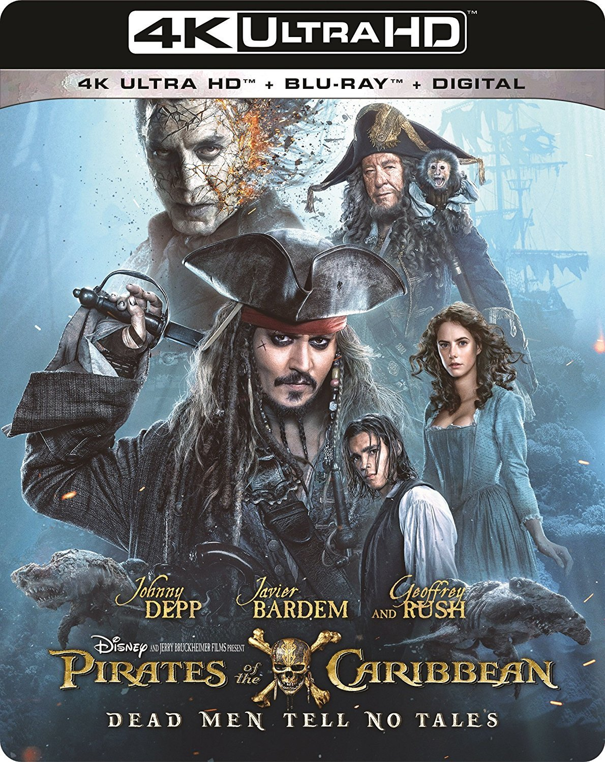 Pirates of the Carribean Dead Men Tell No Tales 4k Ultra HD