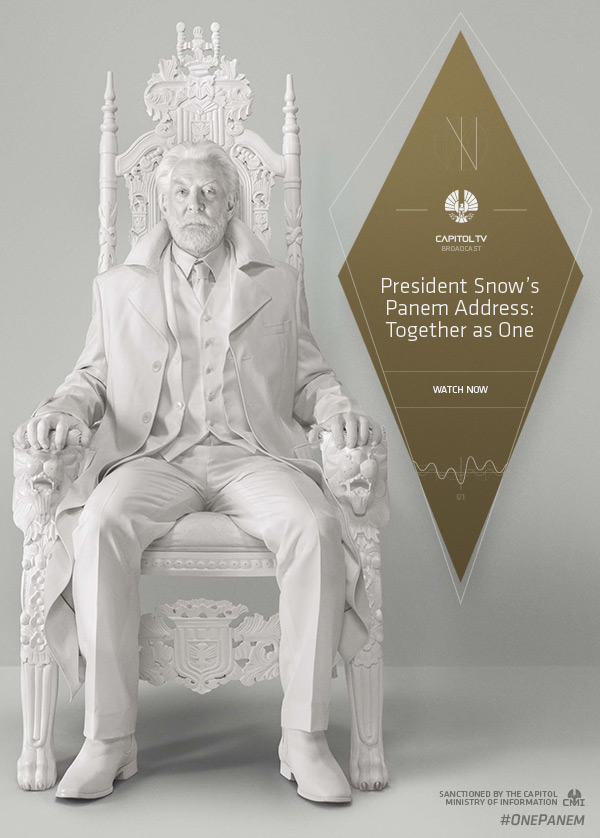 President Snow Addresses The Hunger Games Mockingjay–Part I President Snow Addresses The Hunger Games: Mockingjay–Part I