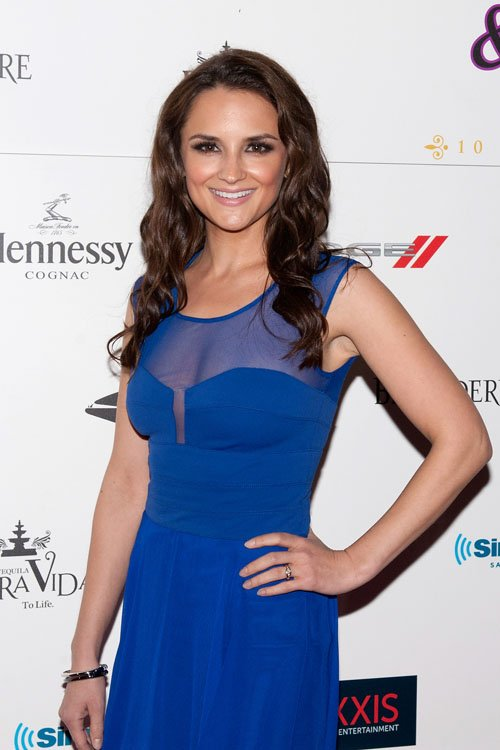 Rachael Leigh Cook Wears BCBGMAXAZRIA at Leather Laces Super Bowl Party Stars Look Chic in BCBGMAXAZRIA Group Designs at Super Bowl XLVII