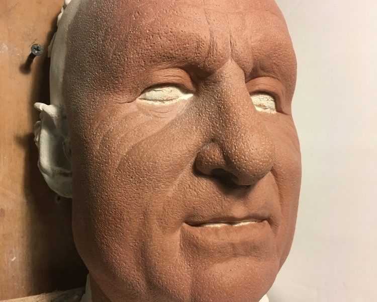 Ray Bradbury Sculpt by Jeff Farley