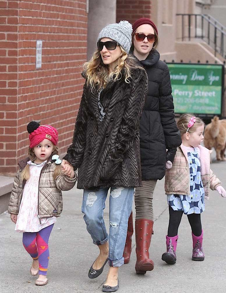 Sarah Jessica Parker Stuns in Sanctuary Jacket in New York City Sarah Jessica Parker Stuns in Sanctuary Jacket in New York City