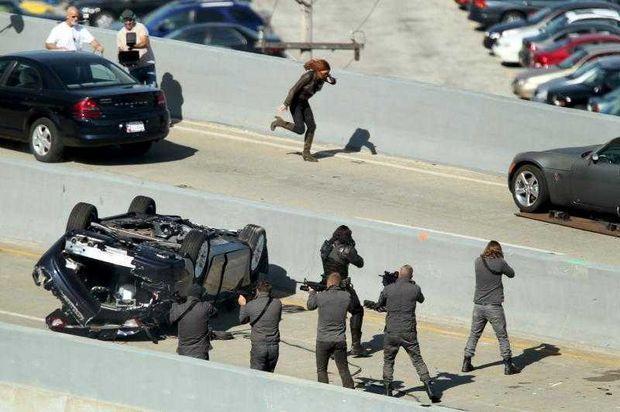 Scarlett Johansson as Black Widow in The Captain America 2 New Captain America 2 Photos Featuring Scarlett Johansson