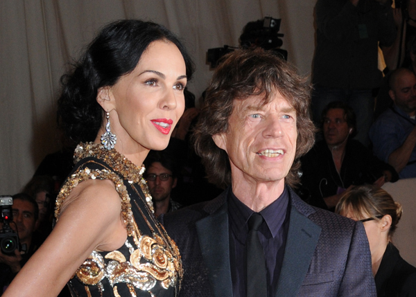 Sir Mick Jagger with L'Wren Scott