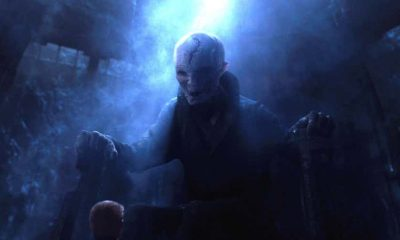 Snoke in Star Wars The Force Awakens