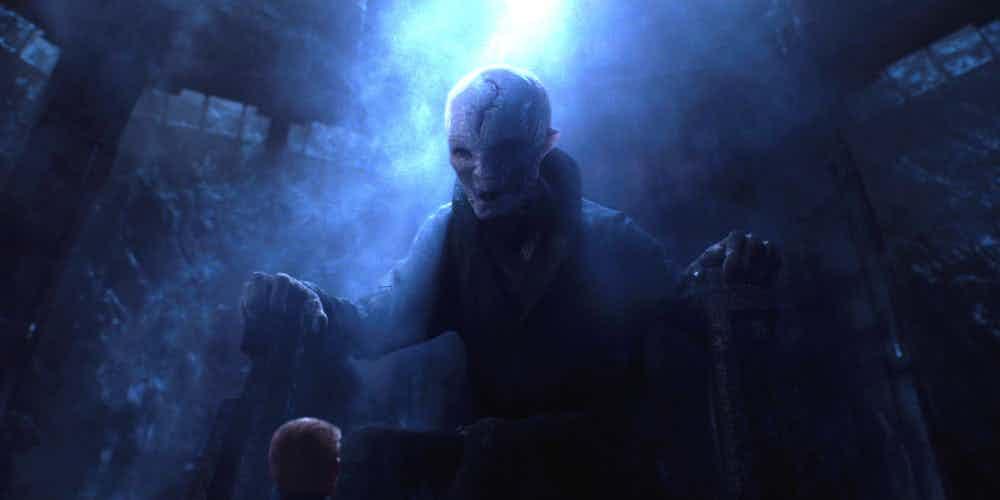 Snoke in Star Wars The Force Awakens