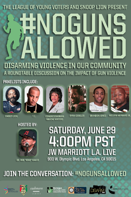 Snoop Lion and BET Join Forces to Address Gun Violence Snoop Lion and BET Join Forces to Address Gun Violence
