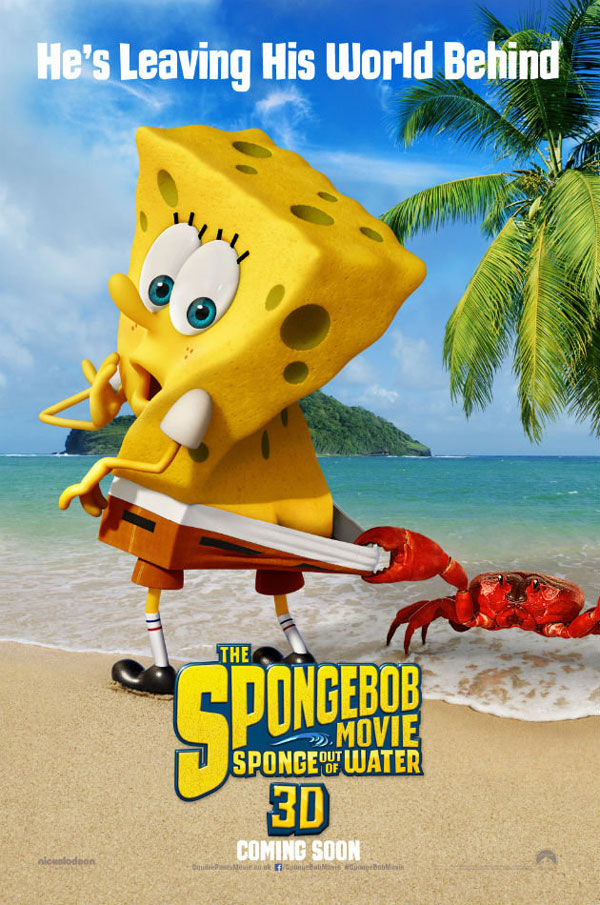 Spongebob Movie Sequel 3D Poster Spongebob to Get 3D Makeover in The Spongebob Movie: Sponge Out of Water
