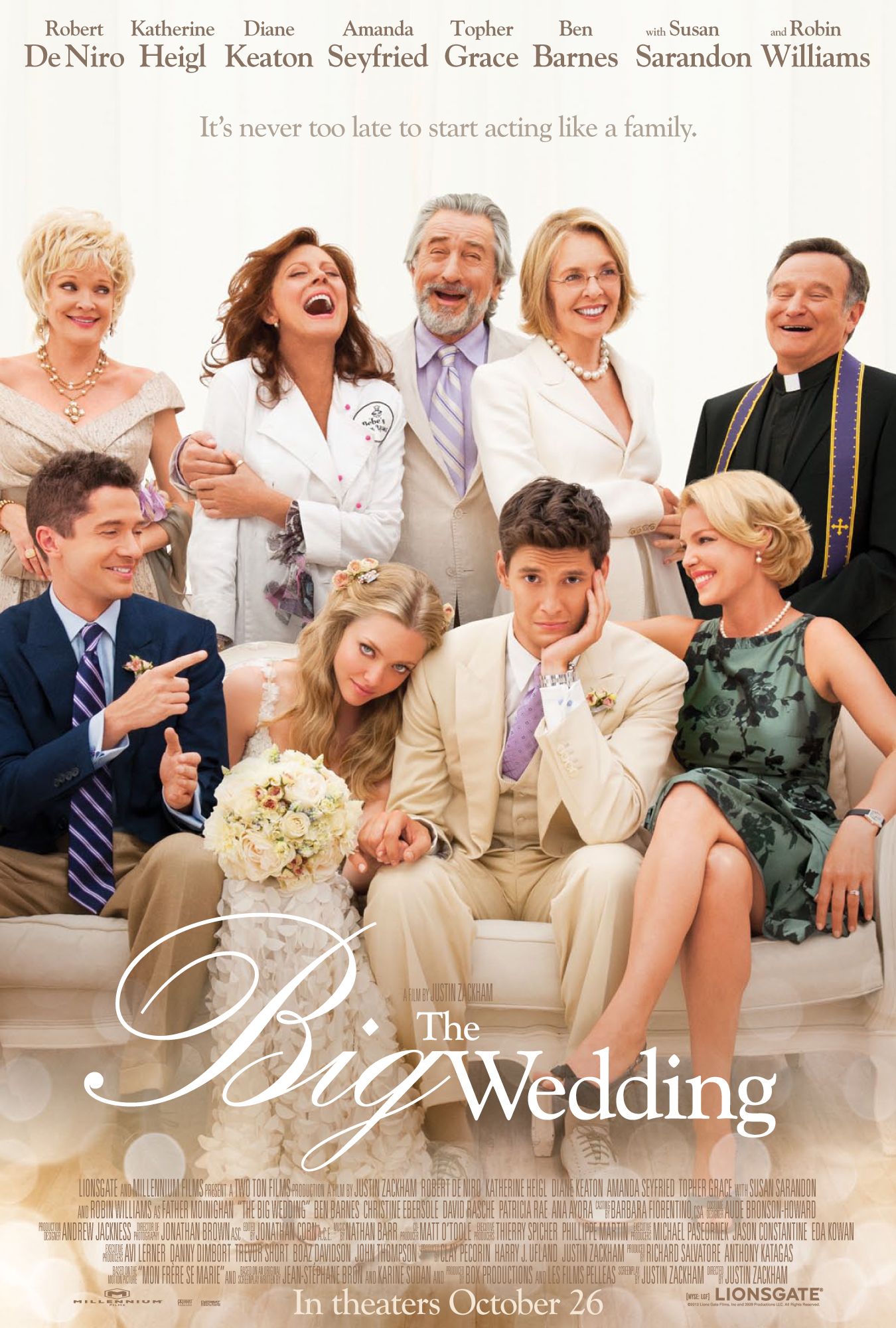 TBW 1Sheet V12 sRGB OC The Big Wedding Cast Experiences Pre Wedding Jitters in New Trailer and Photos