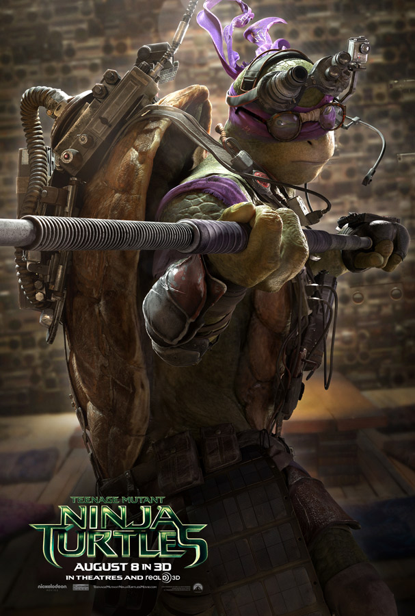 Teenage Mutant Ninja Turtles Donatello Poster Teenage Mutant Ninja Turtle Character Posters Reveal New Trailer