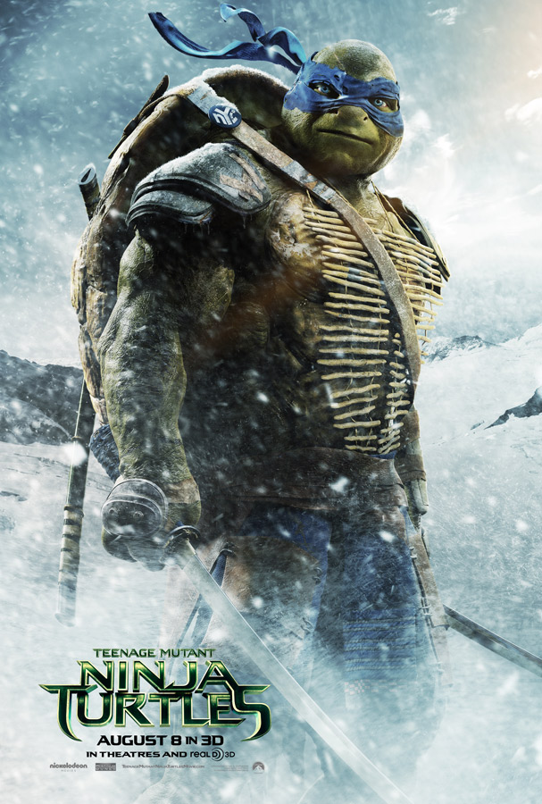 Teenage Mutant Ninja Turtles Leonardo Character Poster Teenage Mutant Ninja Turtle Character Posters Reveal New Trailer